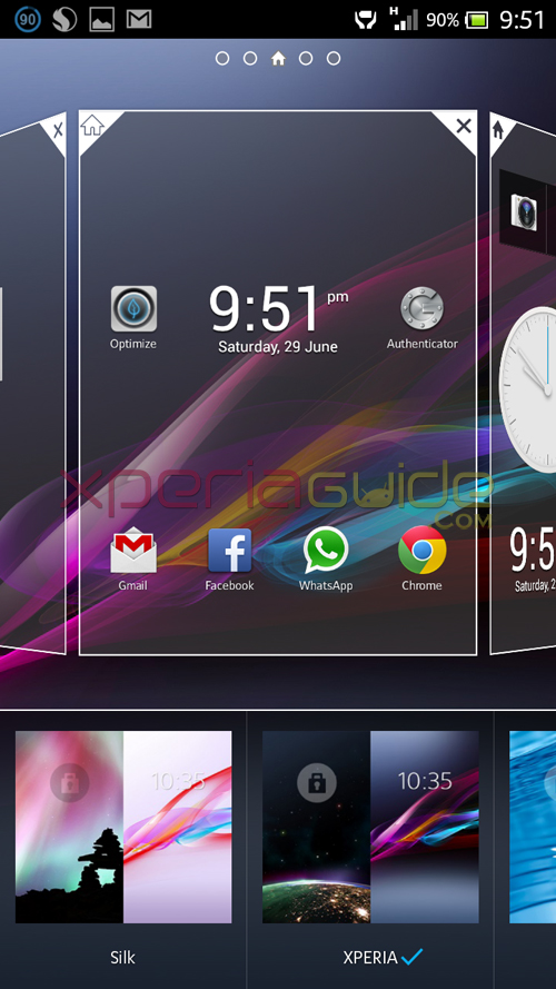 Xperia Z Ultra ZU, Xperia Honami i1 HomeScreen Android 4.2.2 Jelly Bean Themes