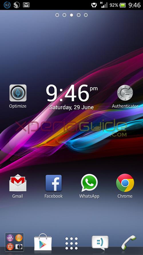 Xperia Z Ultra ZU, Xperia Honami i1 HomeScreen Android 4.2.2 Jelly Bean wallpaper