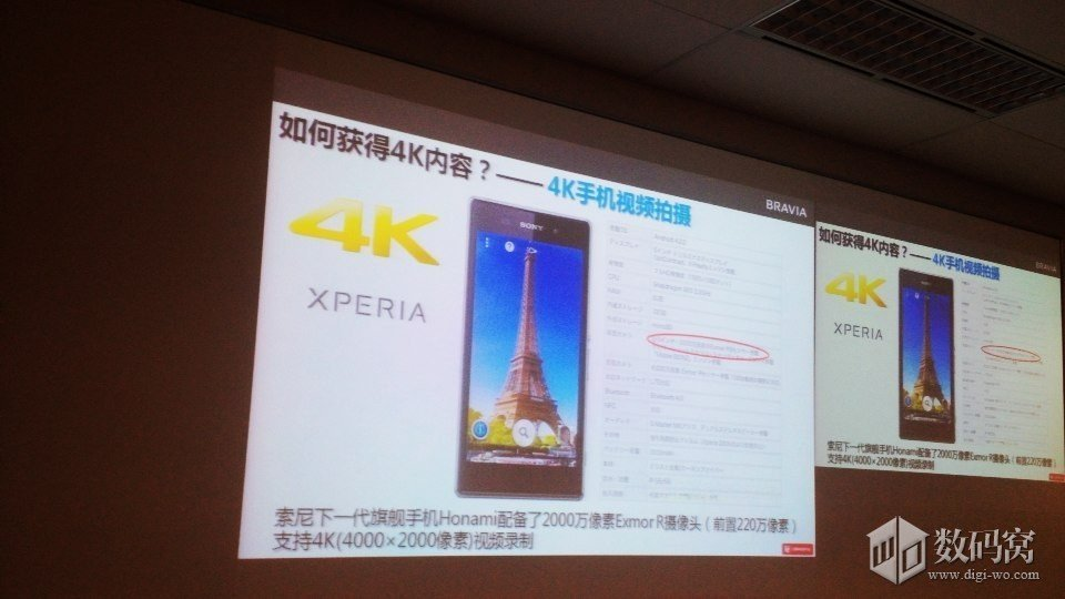 4K video shoot of Xperia Honami