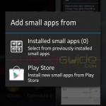 Add Small Apps in Xperia L C2105, C2104 Android 4.1.2 15.0.A.2.17 firmware update