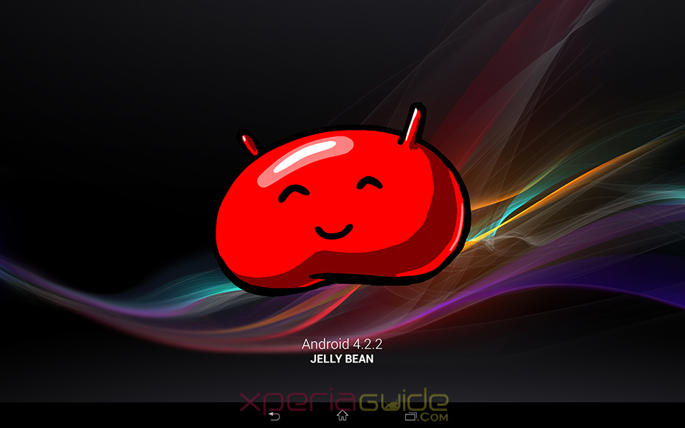 Android 4.2.2 Jelly Bean software screenshot - Xperia Tablet Z SGP321 Android 4.2.2 10.3.1.A.0.244 firmware