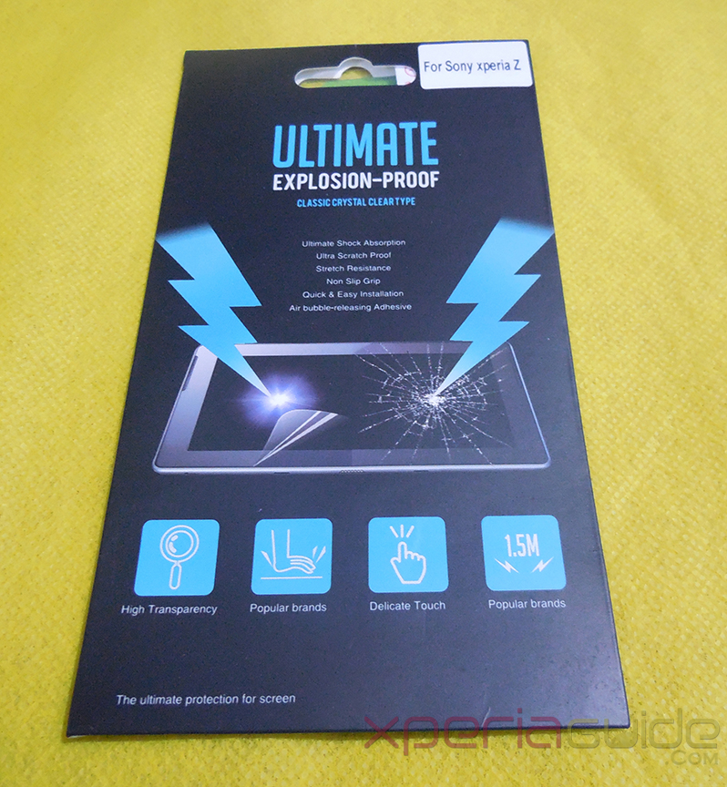 Anti-Shock Screen Protector Scratch Guard For Sony Xperia Z
