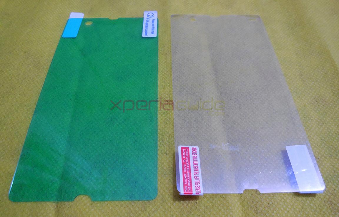 Comparison of Anti-Shock Screen Protector Scratch Guard For Sony Xperia Z Vs Roxfit Guard