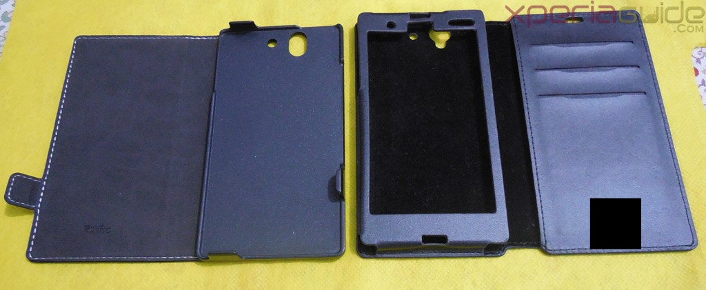 Comparison of  Xperia Z flip Case by Roxfit with another case