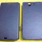 Front Side comparison of Xperia Z flip Case by Roxfit