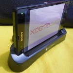 Goose White Xperia Z Charging Dock Side