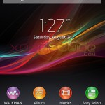 Home Screen of Xperia S 6.2.B.1.96 firmware
