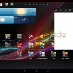 Home Screen of Xperia Tablet Z SGP311 Android 4.2.2 10.3.1.C.0.136 firmware