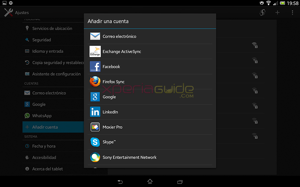 Multi User Account in   Xperia Tablet Z SGP321 Android 4.2.2 10.3.1.A.0.244 firmware