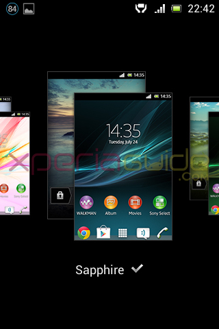 NEW THEMES in Xperia E C1505 Android 4.1.1 11.3.A.2.13 firmware
