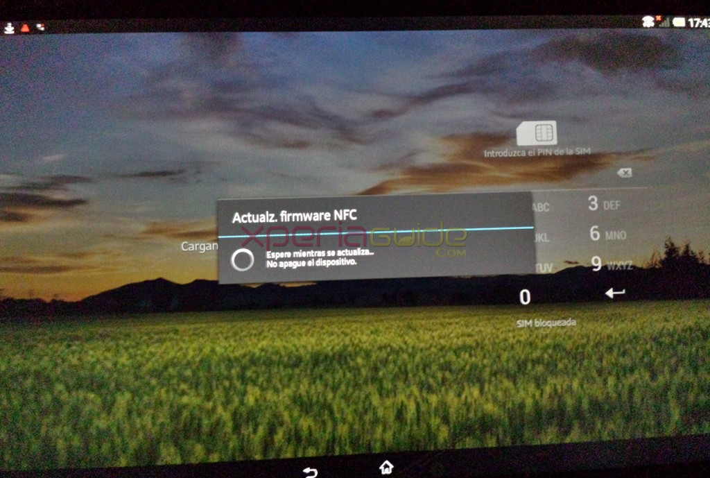 NFC Software upgradation in Xperia Tablet Z SGP321 Android 4.2.2 10.3.1.A.0.244 firmware update