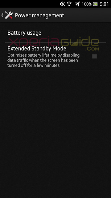 No Stamina Mode, only Extended battery mode in Xperia S LT26i ,SL, Acro S LT26w 6.2.B.1.96 firmware