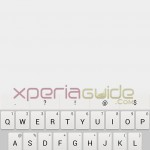 One hand keyboard in Xperia Z Ultra C6802 14.1.B.1.510 firmware update