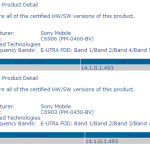 PTCRB Certified first Xperia Honami C6903/C6906 14.1.G.1.493 firmware