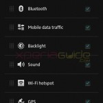 Quick Settings Option in Xperia SP C5302 Android 4.1.2 12.0.A.2.245 firmware Update