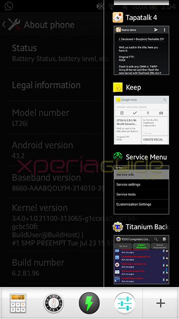 Small Apps in Xperia S LT26i ,SL, Acro S LT26w 6.2.B.1.96 firmware