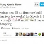 Sony confirms Bug Fixing Android 4.1.2 Jelly Bean update coming for Xperia S, SL, Acro S. ETA – a few weeks