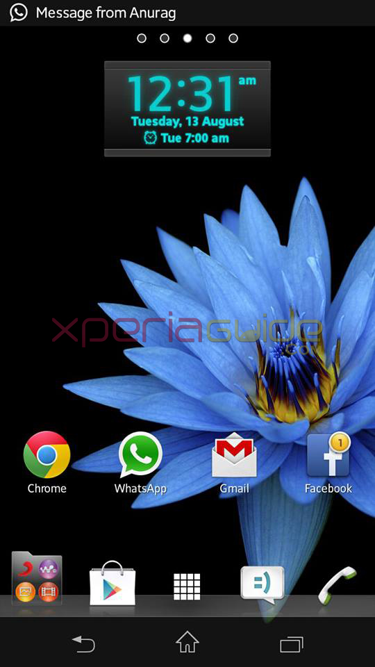 Transaprent Naviagtion bar in Xperia SP C5302 Android 4.1.2 12.0.A.2.245 firmware Update