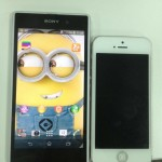 White Xperia Honami seen with iPhone 5 and Xperia Z confirming 20.7MP camera G Lens