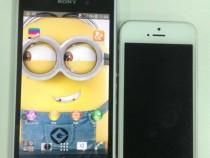 White Xperia Honami Vs iPhone 5