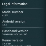 Xperia E C1505, C1504 Android 4.1.1 11.3.A.2.13 firmware update Rolled