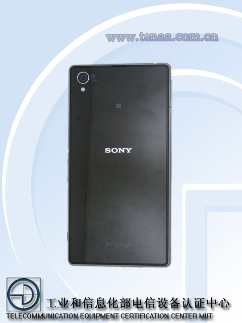 Xperia Honami ( Z1 ) L39h Model Network License Passed -  Official Picture Exposed - Back Side