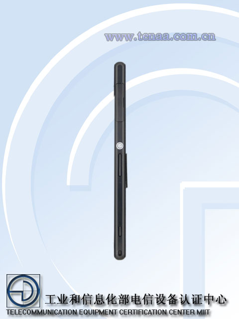 Xperia Honami ( Z1 ) L39h Model Network License Passed -  Official Picture Exposed - Side Profile of Power Button