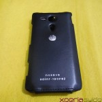 Xperia SP Leather Case by Noreve - Back Side