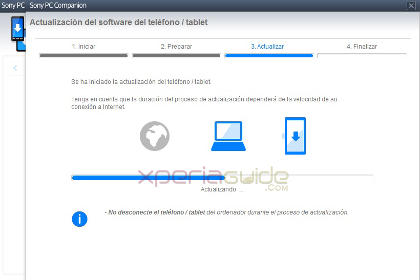 Xperia Tablet Z SGP321 Android 4.2.2 10.3.1.A.0.244 firmware update via PC Companion