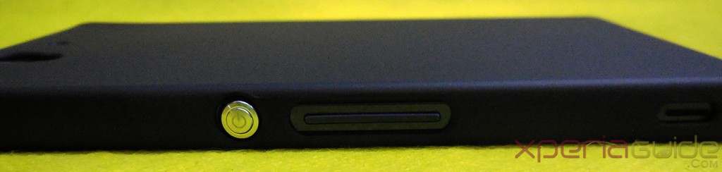 Xperia Z Back Cover Hard Case - Power button opening
