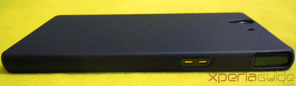 Xperia Z Back Cover Hard Case - Side view - Charging Docks visible