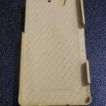 Xperia Z Leather Case by Noreve - Logo at inner side