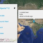 Xperia Z Tracking by MyXperia app