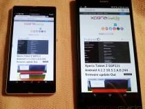 Xperia Z Ultra Vs Xperia Z - Google Chrome Website layout comparison