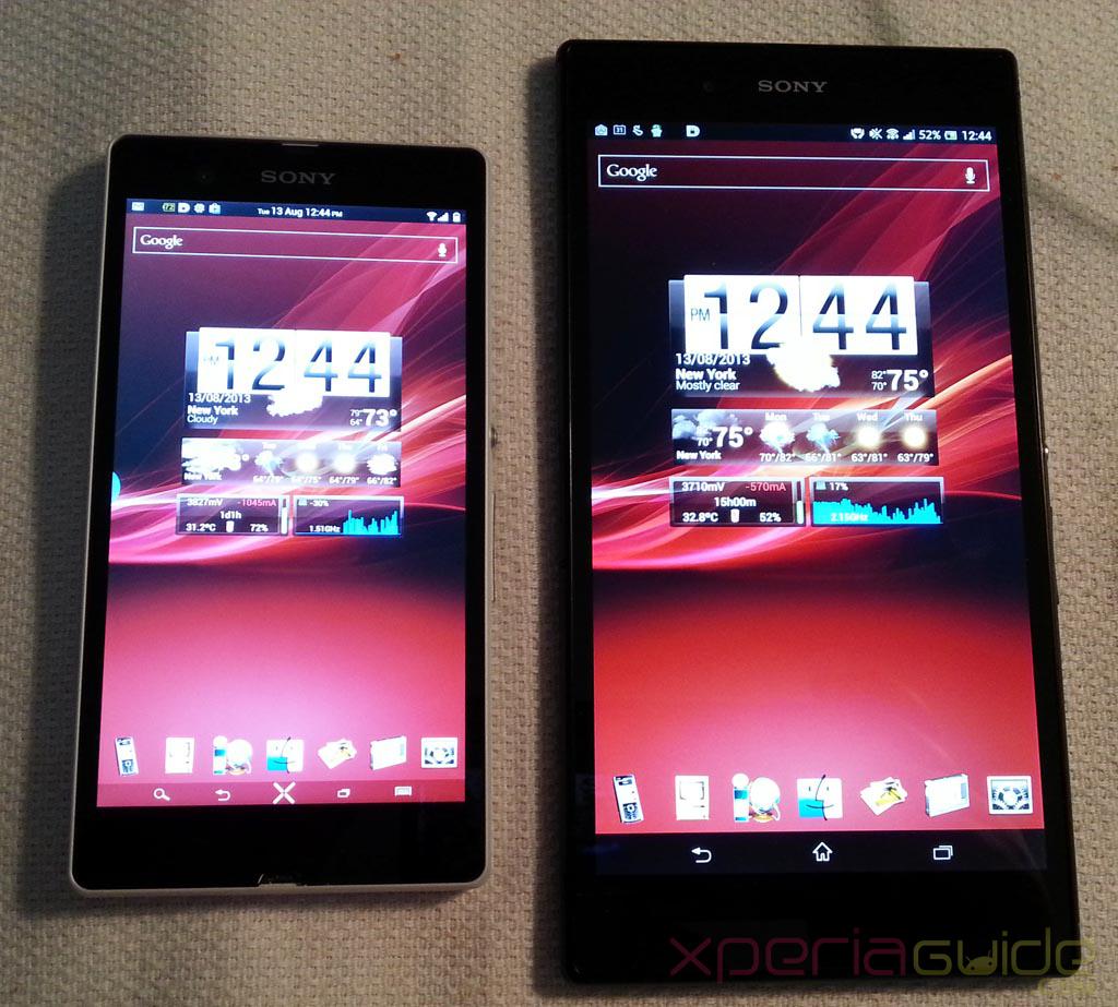 Xperia Z Ultra Vs Xperia Z - Red Xperia Wallpaper Comparison