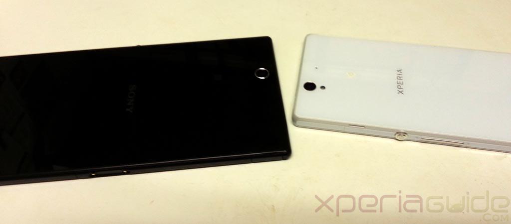 Xperia Z Ultra Vs Xperia Z Size Comparison pics