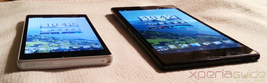 Xperia Z Ultra Vs Xperia Z - Viewing Angles Comparison - Bottom view