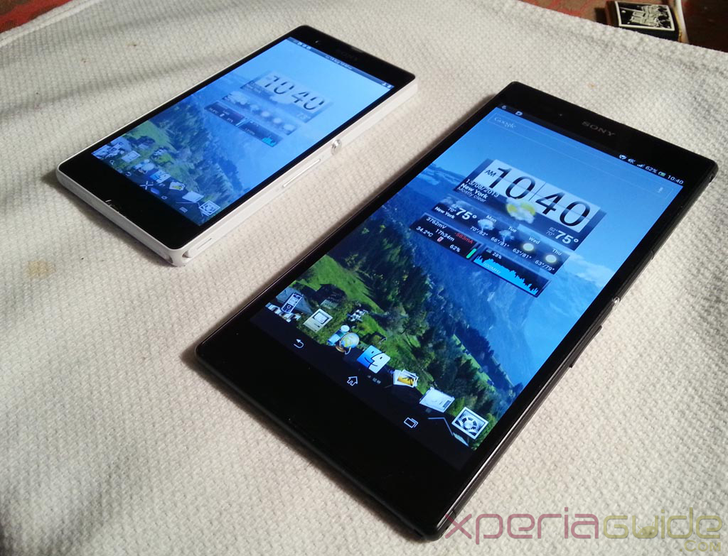 Xperia Z Ultra Vs Xperia Z - Viewing Angles Comparison