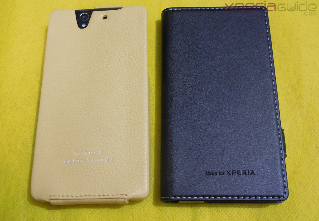 Xperia Z and Xperia SP Leather Case by Noreve - Comparisons