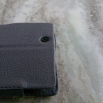 Noreve Xperia Z Ultra leather case camera opening