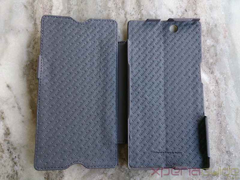 Noreve  Xperia Z Ultra leather case  opened profile