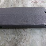 Noreve Xperia Z Ultra leather case side profile