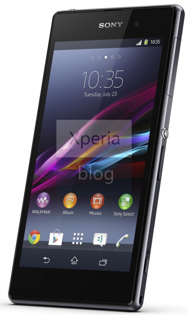 Official Sony Xperia Z1 Press Pictures Leaked - Front Screen
