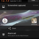 Screenshot preview in Notification panel in Xperia SP 12.0.A.2.254 firmware