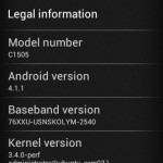 Xperia E C1505 Android 4.1.1 11.3.A.2.23 firmware Rolled -Minor Update