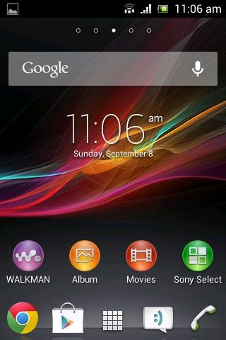Xperia E C1505 11.3.A.2.23 firmware Homescreen