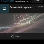 Xperia E C1505 11.3.A.2.23 firmware Notification Panel