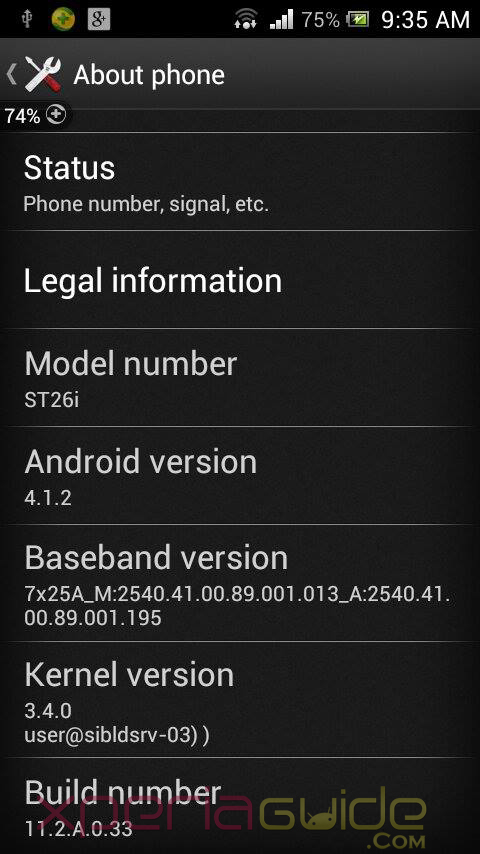 Xperia J ST26i 11.2.A.0.33 firmware Rolled Out - Minor Update