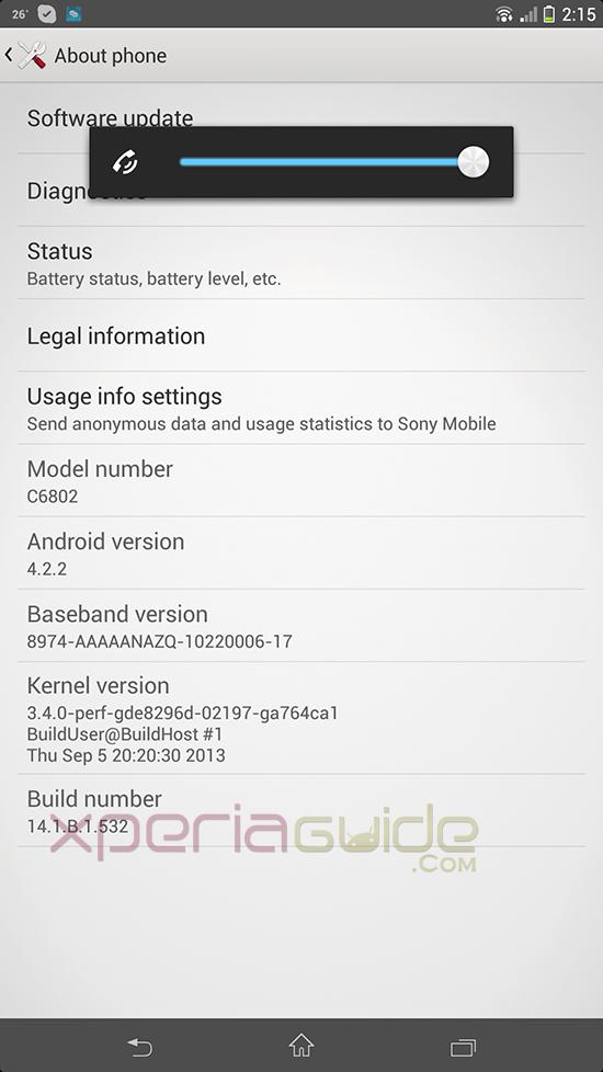 Xperia Z Ultra 14.1.B.1.532 firmware Details