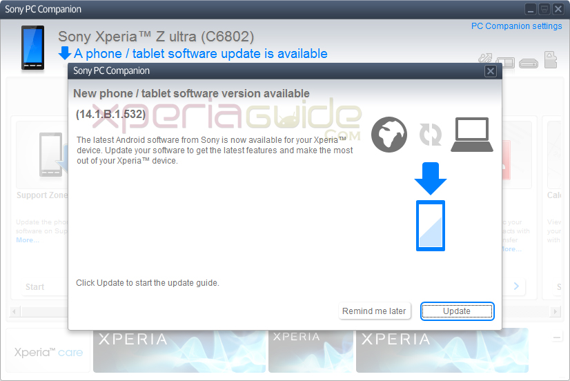Xperia Z Ultra 14.1.B.1.532 firmware Rolled Out